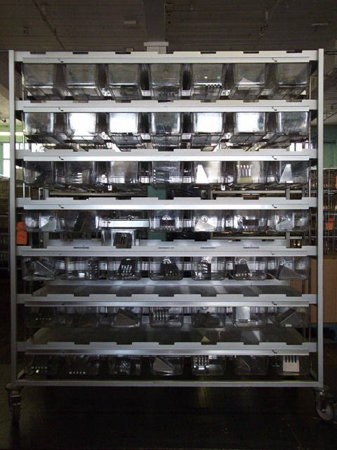 98 Cage mouse rack7 X 7 double sided cage co