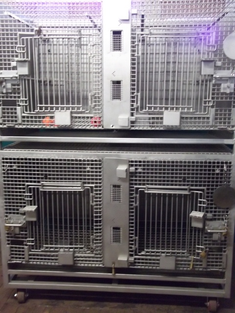  4 Cage NHP Rack (6 sf)2 over 2 cage configur